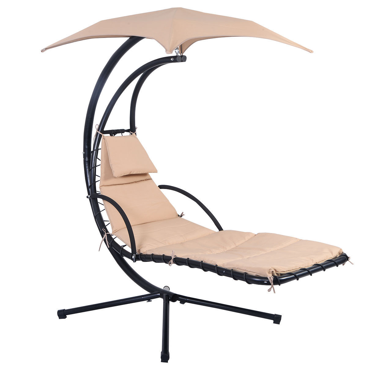 Hanging Chaise Swing Hammock Chair With Canopy For Lounge