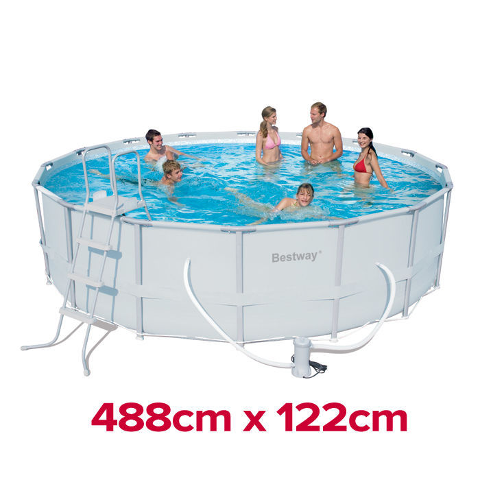 Heavy Duty Bestway Steel Pro Frame Above Ground Swimming Pool 16ft 56266 488cm