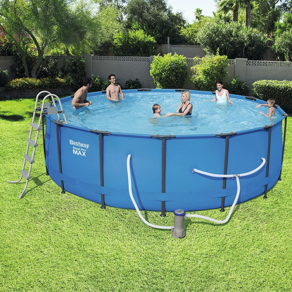 15ft bestway above ground swimming pool 457cm x 122cm 56686 - Images of above ground pools ...