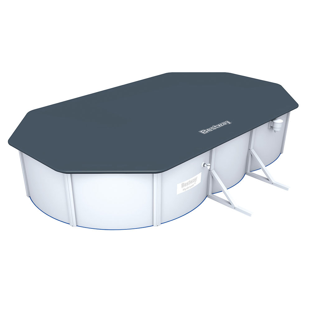 pool cover for bestway hydrium oval swimming pool 20ft. Black Bedroom Furniture Sets. Home Design Ideas