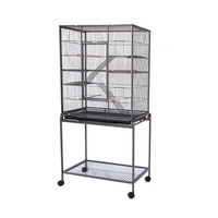 Linkable Bird Cage with Platform and Ladders on Stand for Bird or Ferret