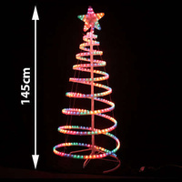 LED 145cm Rope Light Christmas Tree & Star Motif Xmas NEW