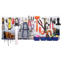 34pcs Peg Board Storage System