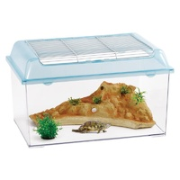 Large Reptile Enclosure Tank Box with Artificial rock and Plants