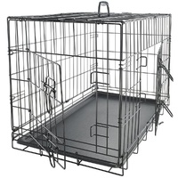 "24"" Double Doors Folding Dog Crate 60x45x53cm"