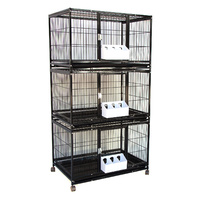 Triple Breeder Stackable Breeding Bird Parrot Cage