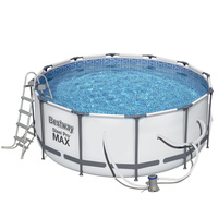 12ft Bestway Steel Pro Max Above Ground Frame Swimming Pool 366x122cm