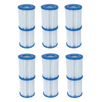 12x Bestway 58094 Type II Cartridge Filter for Swimming Pool