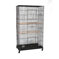Flight Cage on Castors for Small Birds 75x45x140cm