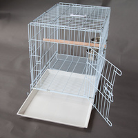 Collapsible Pet Carrier Travel Cage for Medium Bird Cockatoo