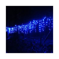200 LED Icicle Christmas Rope Light & Memory BLUE