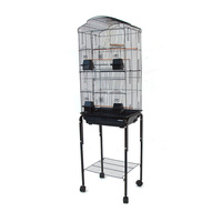 Dome Top High Bird Cage with Stand for Canary Finch