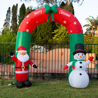 240cm Inflatable Santa Snowman Christmas Arch with Light