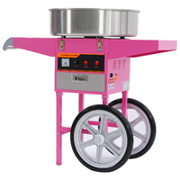 Commercial Fairy Floss Machine with Wheeled Cart