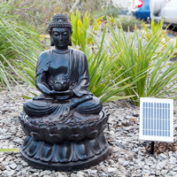 Buddha Solar Water Fountain with LED Light