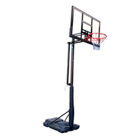 2.35-3.05m Height Adjustable Portable Basketball System Stand 120x80 Backboard