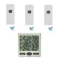 Wireless Weather Station 8-Channel Thermometer Hygrometer with 3 Remote Sensors