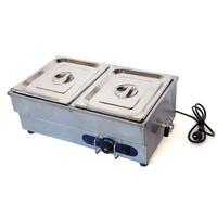 Stainless Steel Food Warmer Bain Marie 2 x GN 1/2 Buffet Cafe Display