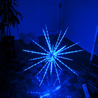160 LED Blast Ice Star Ball Christmas Light Decoration Blue 122cm Diameter
