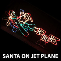 LED Animated Santa on Jet Plane Rope Light Christmas Light
