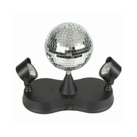 Mirror Ball w/ 2 LED Spotlight Disco Light Set MB803