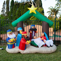 180cm Height Inflatable Nativity Scene with LED Light