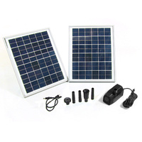 20W 1600LPH Solar Panel Power Pump Fountain Feature for Garden Pond