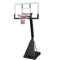 54inch Tempered Glass Portable Basketball Backboard Ring Stand System