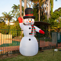 240cm Inflatable Snowman with LED Light for Christmas Decoration