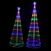 Circling LED Light Christmas Tree with Star