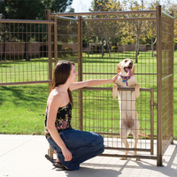 1.7m Height Double Door Pet Pen Dog Enclosure Kennel
