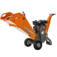 GITENDO Commercial 6.5Hp Petrol Self Feeding Wood Chipper