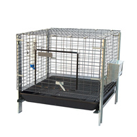 Stackable Rabbit Cage with Feeder Water Bottle